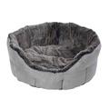 Winter Warmer Super Soft Oval Dog Bed