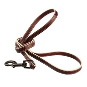Baker & Bray - Paris Croc Dog Lead – Burgundy & Stone