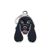 My Family - Cocker Spaniel Engraved ID Tag – Black