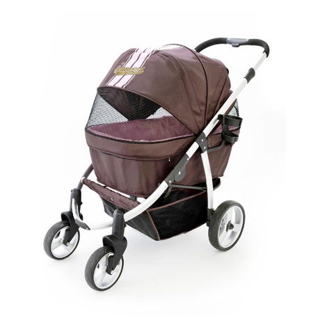 Retro Dog Buggy - Brown/Pink