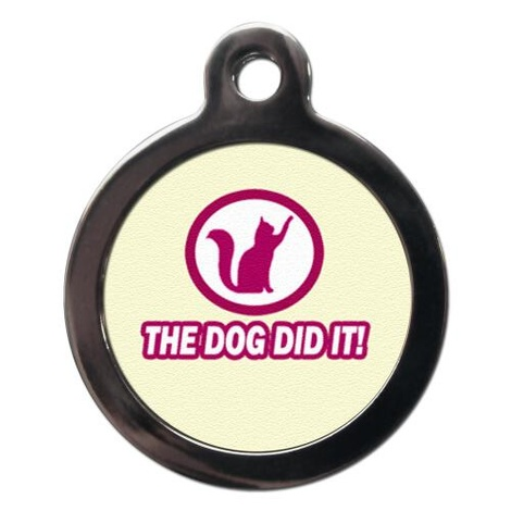 The Dog Did It Cat Tag