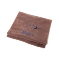 Personalised Brown Snooze Pet Blanket - Italic Font
