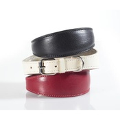 Kara Van Petrol - Fashion Leather Padded Dog Collar for Whippets Red
