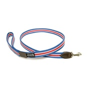 Dogs & Horses - Red, White & Blue Wide Striped Webbing Lead