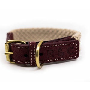 Rope collar (flat) - Burgundy