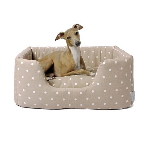 Deeply Dishy Luxury Dog Bed - Dotty Taupe