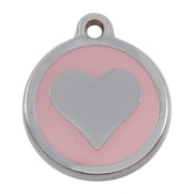 Tagiffany - My Sweetie Light Pink Heart Pet ID Tag