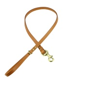 Clementine est. Dogs - Beaton Flat Leather Dog Lead – Tan