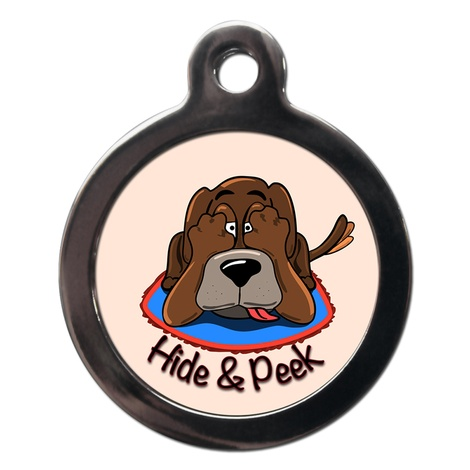 Hide & Peek Dog ID Tag