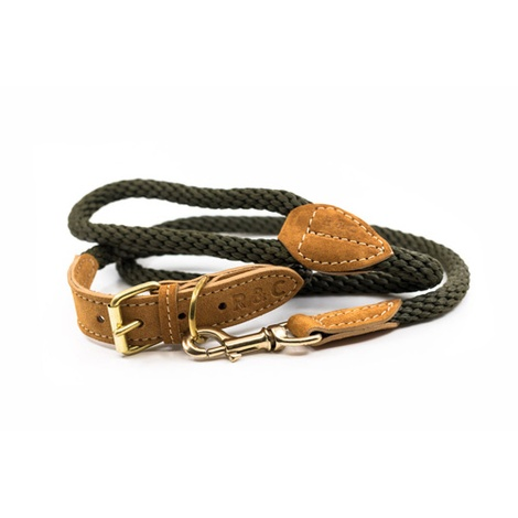 Rope collar (Braided) - Khaki 4