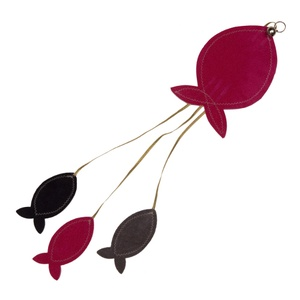 Flat Fish Cat Toy - Pink