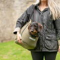 Forest Green Tweed Dog Carrier 5