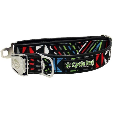 Black-Multi Modern Art Dog Collar