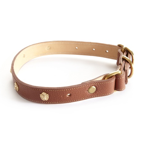 Woof Leather Dog Collar - Brown 3