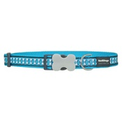 Red Dingo -  Bones Reflective Dog Collar - Turquoise