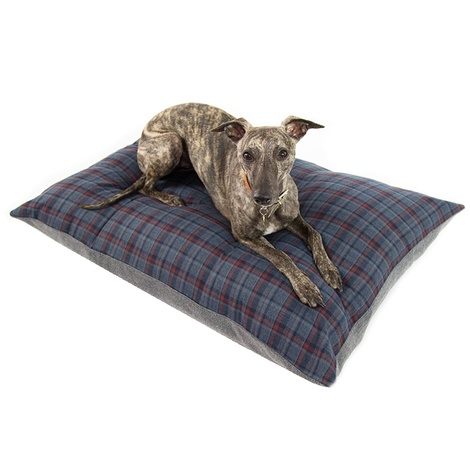 Hamish Personalised Dog Bed - Blue