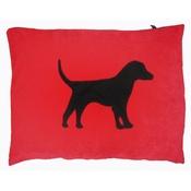 Creature Clothes - Labrador Dog Doza - Black on Red