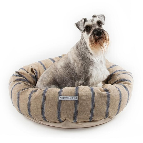 Navy Nordic Stripe Donut Bed