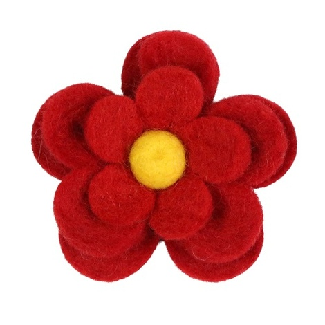 Bloom Dog Collar Flower Accessory - Crimson & Yellow 2
