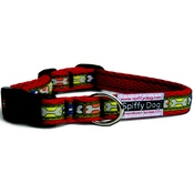SpiffyDog - Red Bone Print Collar