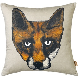 Fox Cushion in Grey