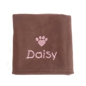My Posh Paws - Personalised Valentine Pet Blanket - Milk Chocolate
