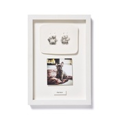 Pet Steps - Framed Personalised Paw Mould & Photo