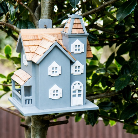 Little Manor Blue Birdhouse 2