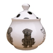 Laura Lee Designs - Dogs Sugar Bowl