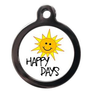 Happy Sunny Days Dog ID Tag