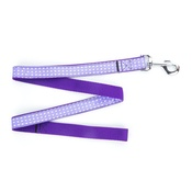 "Pet Pooch Boutique - Purple Polka Dot Lead  1"" Width"
