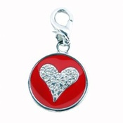 Puchi - Starry Eyed Heart Tag - Red