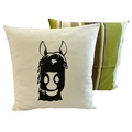 Horse Pistachio Stripe Cushion
