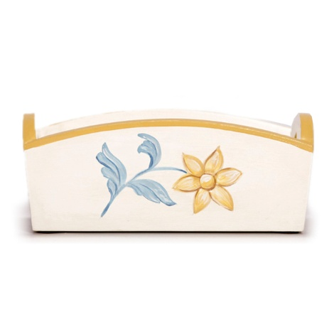 White, Sunglow & Blue French Provincial Toy Box