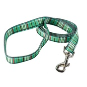 Yellow Dog - Tartan Plaid Dog Lead – Green
