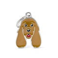 Cocker Spaniel Engraved ID Tag – Brown