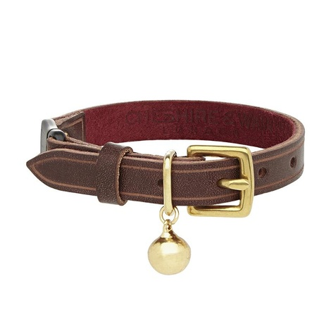 Cornelius - Heritage Brown Cat Collar