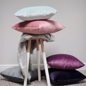 The Lounging Hound - Velvet Scatter Cushion - Blush
