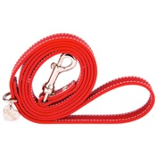 Chihuy - Red and Silver Luxury Leather Lead