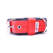 El Perro - 4cm width Fleece Comfort Dog Collar - Red