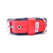 El Perro - 4cm width Fleece Comfort Dog Collar - Red