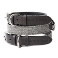 Stoneham Grey Tweed Dog Collar