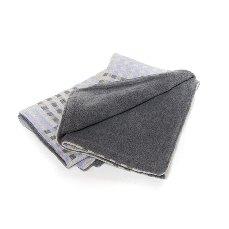 Lilac & Grey Check Pet Blanket 2