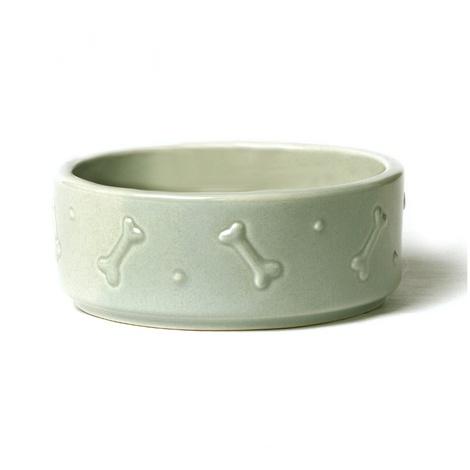 Ceramic Dog Bowl - Sage Green 2