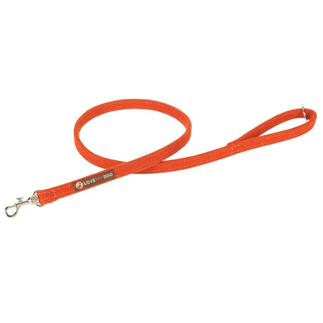 Edison Orange Harris Tweed Dog Lead