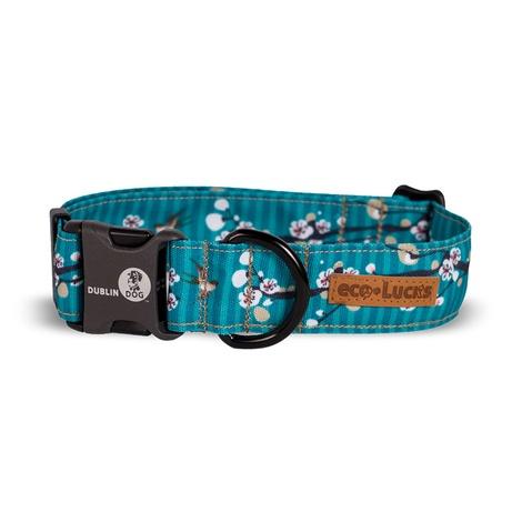 EcoLucks Dog Collar – Cherry Blossom Hong Kong Seas