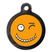 PS Pet Tags - Funny Yellow Face Dog ID Tag