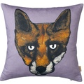 Fox Print Cushion in Mauve