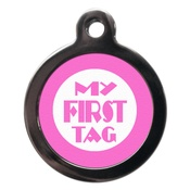 PS Pet Tags - My First Pet ID Tag - Pink