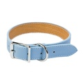 Tuscany Leather Dog Collar – Light Blue
